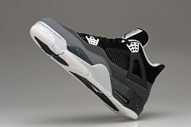 Air Jordan 4 Retro Shoes Oreo/gray black white